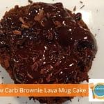 Low Carb Brownie Lava Mug Cake